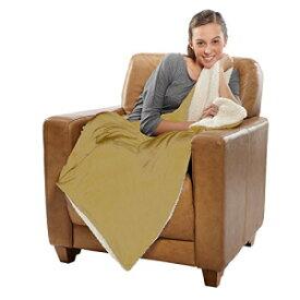 robesale Sherpa Micro Mink Throw, Blanket, 37Oz/E