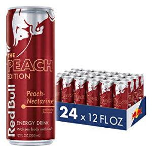 レッドブルエナジードリンク、ピーチネクタリン、24パックの12 Fl Oz、ピーチエディション Red Bull Energy Drink, Peach-Nectarine, 24 Pack of 12 Fl Oz, Peach Edition