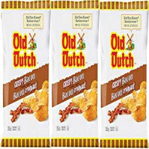 オールドダッチクリスピーベーコン風味のポテトチップス255g-3Xラージバッグ{カナダから輸入}(3パック) Old Dutch Chips Old Dutch Crispy Bacon Flavoured Potato Chips 255g - 3 X Large Bags {Imported from Canada} (3-Pac