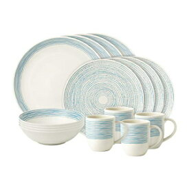 Royal Doulton Blue Dots Ellen Degeneres 16 Piece