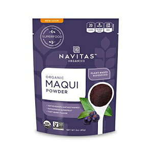 Navitas Organicsマキパウダー、3オンス。バッグ?オーガニック、非GMO、フリーズドライ、グルテンフリー Navitas Organics Maqui Powder, 3 oz. Bag ? Organic, Non-GMO, Freeze-Dried, Gluten-Free