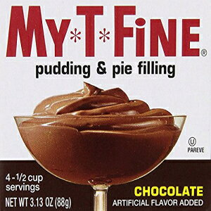 My T Fineのチョコレートプリンとパイフィリングミックス-各ボックス:(4)1/2カップ分量(パック-2) My-T-Fine Chocolate Pudding & Pie Filling Mix by My T Fine - Each Box: (4) 1/2 cup Servings (Pack - 2)