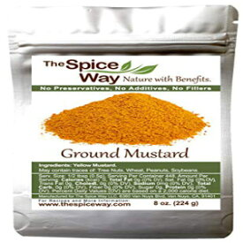 The Spice Way Ground Yellow Mustard Seed - 8 oz