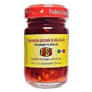 Iasa Peperoncino Piccanteオリーブオイル100 Gr瓶入り赤唐辛子 Iasa Peperoncino Piccante Hot Red Peppers in Olive Oil 100 Gr Jar