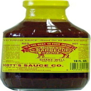 Scott's Spicy BBQ Sauce-無脂肪、無糖、16 Fl Oz 3パック Unknown Scott's Spicy BBQ Sauce - Fat and Sugar Free, 16 Fl Oz Pack of 3