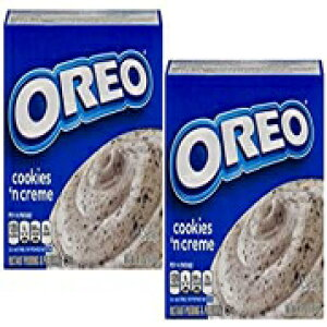 Jell-Oインスタントプディング&パイフィリングオレオクッキー 'Nクリームクッキーピース、4.2オンス(2パック) Jell-O Instant Pudding & Pie Filling Oreo Cookies 'N Cream with Cookie Pieces, 4.2 Oz (Pack of 2)