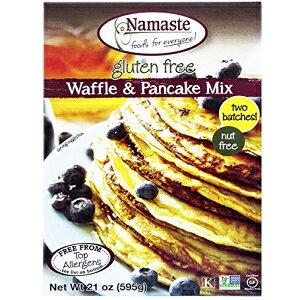 ナマステフード、グルテンフリーワッフル&パンケーキミックス、21オンスバッグ(6パック) Namaste Foods, Gluten Free Waffle & Pancake Mix, 21-Ounce Bags (Pack of 6)