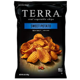 Terra Sweet Potato Vegetable Chips with Sea Salt, 6 Oz (Pack of 12)
