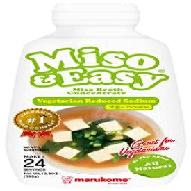 マルコメ味isoと簡単なスープ、ベジタリアン減ナトリウム、13.8オンス Marukome Miso and Easy Broth, Vegetarian Reduced Sodium, 13.8 Ounce