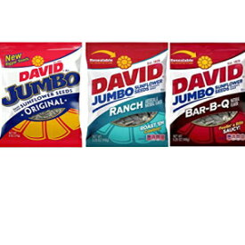 David Jumbo Sunflower Seeds Variety-3 Count 5.25oz各