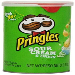 プリングルズラージサワークリームとオニオングラブアンドゴー、2.5オンス-ケースあたり12。 Pringles Large Sour Cream and Onion Grab and Go, 2.5 Ounce - 12 per case.