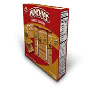 Munchiesサンドイッチクラッカーピーナッツバターチーズクラッカー-8 PK Munchies Sandwich Crackers Peanut Butter on Cheese Crackers - 8 PK