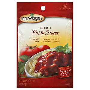 Mrs. Wages ALL NATURALパスタソーストマト缶詰ミックス(5オンスパッケージ) Mrs. Wages ALL NATURAL Pasta Sauce Tomato Canning Mix (5 Ounce Package)