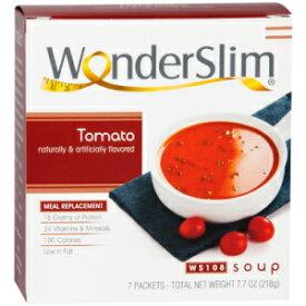 WonderSlim Low-Carb Diet High Protein Soup Mix - Tomato Soup (7 Servings) - Low Carb, Low Calorie, Fat Free Soup