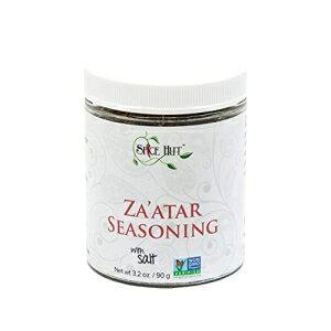 スパイスハットオーガニックザアタル(ザアタル/ザアタル/ザアタル)調味料、中東スパイスブレンド、塩3.2オンス The Spice Hut Organic Za'atar ( Zatar/Zahtar/Zaatar) Seasoning, Middle Eastern Spice Blend, with Sal