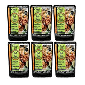 Miracle Noodle Ready to Eat Pad Thai Meal, 10 oz (Pack of 6), Shirataki Noodles, Pasta Alternative, Gluten Free, Paleo Friendly