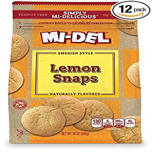 8パック、レモン、MI-DELクラシックレモンスナップクッキー10オンス(8パック) 8-Pack, Lemon, MI-DEL Classic Lemon Snap Cookies 10 oz (8 Pack)