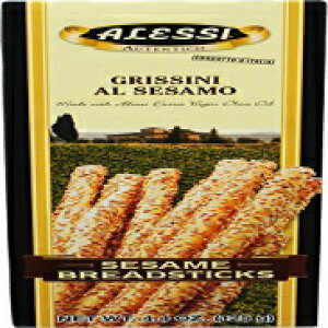 Alessi Sesame Breadsticks, 4.4-Ounce Boxes (Pack