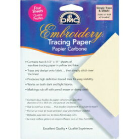 DMC U1541 Embroidery Tracing Paper, Yellow/Blue,