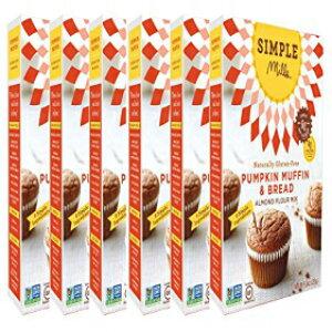 Simple Millsアーモンドフラワーミックス、パンプキンマフィン&パン、9オンス、6カウント Simple Mills Almond Flour Mix, Pumpkin Muffin & Bread, 9 oz, 6 count