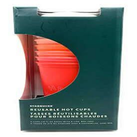 Starbucks LIMITED EDITION HOLIDAY Reusable HOT Cups with Lids, 6 Pack 16 ounces
