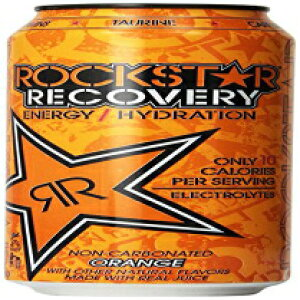 Rockstar Energy Drink、オレンジリカバリー、16オンス(24パック) Rockstar Energy Drink, Orange Recovery, 16 Ounce (Pack of 24)