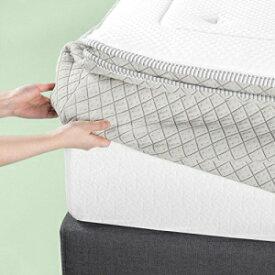 Zinus 2.5 Inch Green Tea Memory Foam Quilted Matt