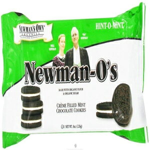 Newman's Own Organic Mint Creme Cookie O's 8 Ounces (Case of 6)