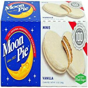 MoonPieミニバニラマシュマロサンドイッチ-1オンス、12カウントボックス(8ボックスのパック、合計96カウント)  バニラアイシングディップグラハムクラッカー&マシュマロスナック、バニラ