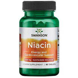 Swanson Sustained Release Niacin 500 Milligrams 90