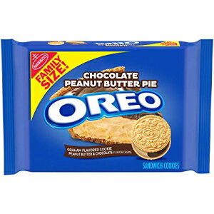 Oreo Chocolate Peanut Butter Pie Sandwich Cookies, 12 - 17 Oz Family Size Packages, 12Count