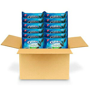 OREO Thins Mint Flavored Creme Chocolate Sandwich Cookies、12-10.1 oz Packs OREO Thins Mint Flavored Creme Chocolate Sandwich Cookies, 12 - 10.1 oz Packs