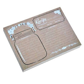 Home Advantage 5x7 Vintage Recipe Cards Mason Jar