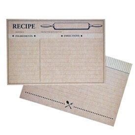 Home Advantage 50 Farmhouse Rustic Recipe Cards 4x