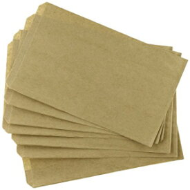 MyCraftSupplies 150 Brown Kraft Paper Bags with Clear Seals, 5 x 7.5 Inches, Flat Bags for Merchandise, Candy Buffets, by My Craft Supplies Made in USA