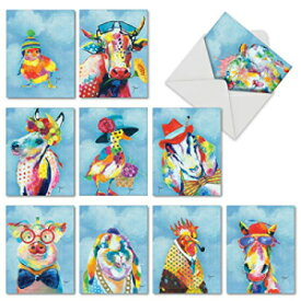 Funny Animal Thank You Cards (Box of 10 with En
