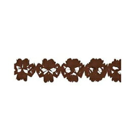 Dress My Cupcake 10-Feet Paper Tissue Garlands, Brown, Set of 1