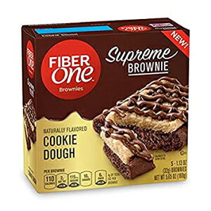 Fiber One Supreme Brownie Cookie Dough、(2パック)5.65オンス 箱 Fiber One Supreme Brownie Cookie Dough, (2 Pack) 5.65 oz. Boxes