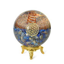 Orgonite Crystal Lapis Lazuli Ball with Holder –