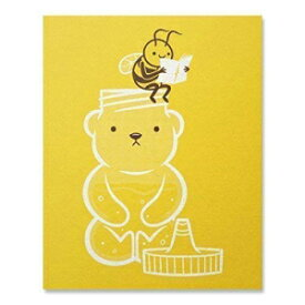 """Making Honey"" Quirky Bee Art Print - Funny Ins"