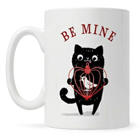 Loftipop Be Mine Coffee Mug, Valentines Day Gifts for Wife Husband Girlfriend Boyfriend Him Her, Romantic Cute Quirky Love Mug, Cat Cup, Anniversary Present