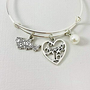 Sweet Sixteen Adjustable Charm Bracelet Birthday Gi