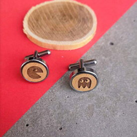 Abhika Creations Pac Man Quirky Stylish Cuff Links