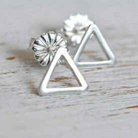 Sterling Silver Tiny 8mm Open Triangle Geometric U