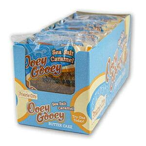 プレーリーシティベーカリーシーソルトキャラメルウーイグーイーバターケーキ、1箱、10ケーキ Prairie City Bakery Sea Salt Caramel Ooey Gooey Butter Cake, 1 Box, 10 Cakes
