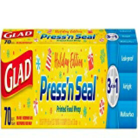 Glad Press'n Seal Printed Food Wrap, Holiday Edi