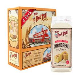 ボブのレッドミルグルテンフリーコーンブレッドミックス、20オンス(4パック) Bob's Red Mill Gluten Free Cornbread Mix, 20-ounce (Pack of 4)