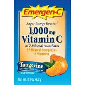 Emergen-CビタミンCタンジェリンフレーバードドリンクミックス30パケット、0.33オンス(2パック) Emergen-C Vitamin C Tangerine Flavored Drink Mix 30 Packets, 0.33 oz (Pack of 2)