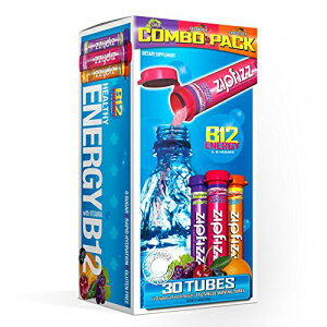 ジップフィズヘルシーエナジードリンクミックス、B12およびマルチビタミンを含む水分補給、バラエティーパック、30カウント Zipfizz Healthy Energy Drink Mix, Hydration with B12 and Multi Vitamins, Variety Pack