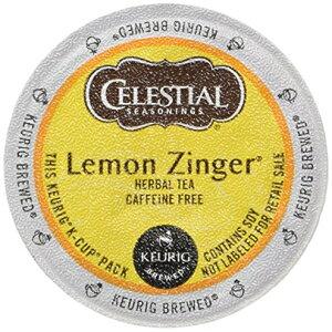 Celestial Seasoningsレモンジンジャーハーブティー、Keurig Kカップブリューワー用Kカップポーションパック、24カウント(2パック) Celestial Seasonings Lemon Zinger Herbal Tea, K-Cup Portion Pack for Keurig K-Cup Bre